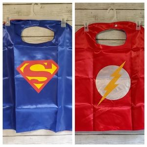 Superman/The Flash Double Sided Cape & Masks